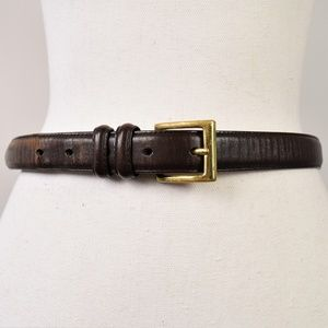 Vintage Coach Leather Belt Gold Buckle